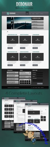 Medialoot Debonair 4-Page Website Template RETAIL