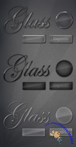 MediaLoot Classy Glass Text & Button Styles RETAIL
