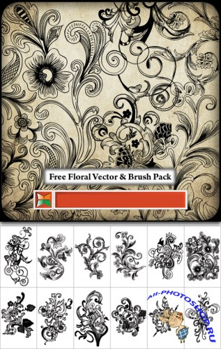 Floral Vector Brush Pack