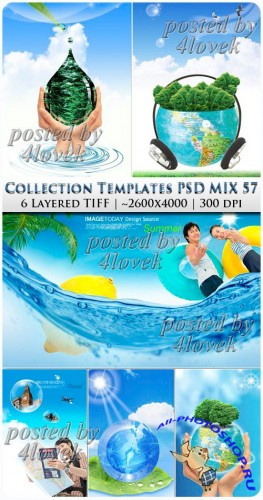 Collection Beautiful Templates PSD MIX #58
