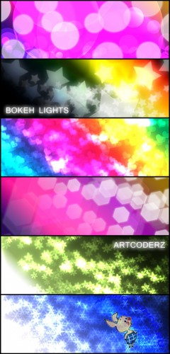 Bokeh lights brushes for Photoshop
