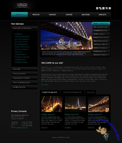 Free Civil Engineering Website Template