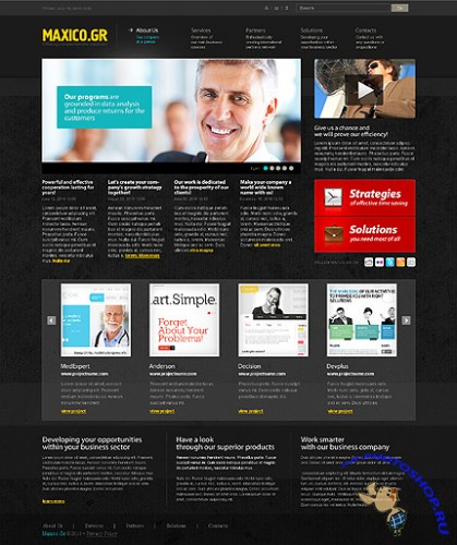 Maxico Free Gr Website Template
