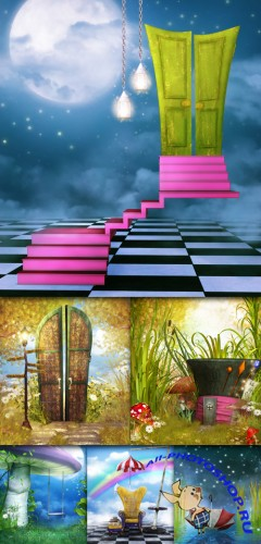 "Backgrounds – ""Mini-Pack – Curiosities"""