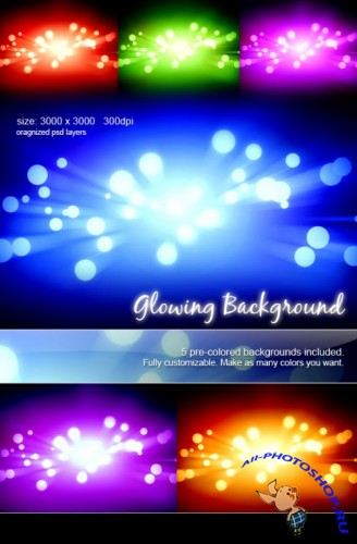 "Backgrounds PSD ""Glowing"""