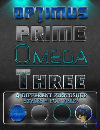4 photoshop styles for photoshop - Optimus
