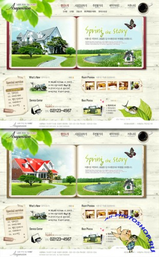 PSD Web Template - Spring The Story