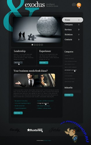 Free Exodus Business Website Template
