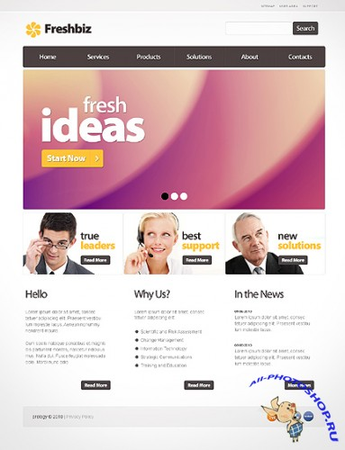 Freshbiz Business Free Website Template