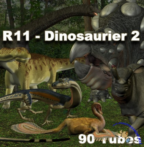 PNG Cliparts - Dinosaurier 2