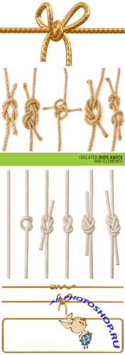 Shutterstock - Isolated Rope Knots and Elements 3xJPGs