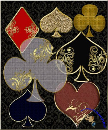 PNG Cliparts - Colors of playing cards
