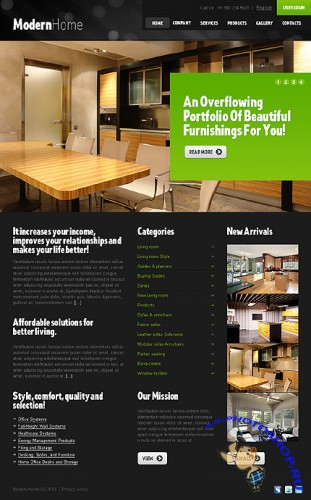 Modern Home Website Free Template