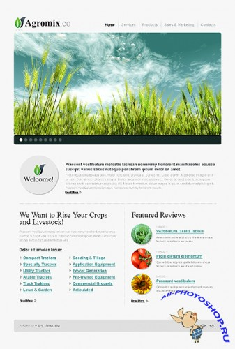 Agromix Agriculture Website Free Template