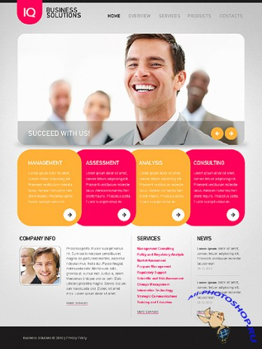 Free Iq Business Website Template
