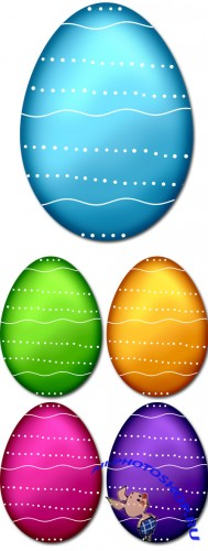 PSD Cliparts - Easter Eggs