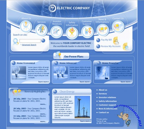 Web Template - Electric Company