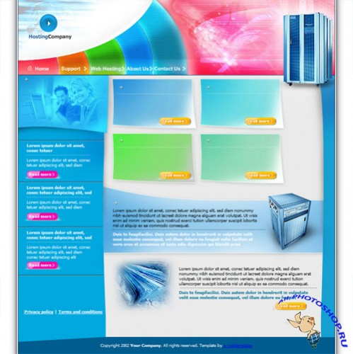 Web Template - Hosting Company