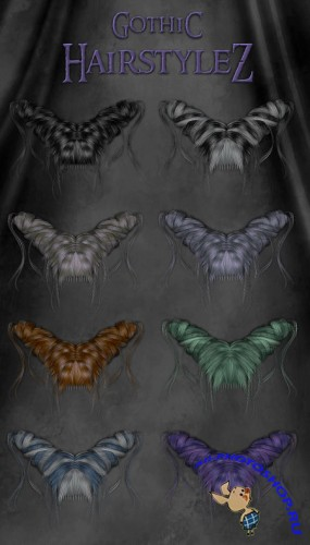 PNG Cliparts - Gothic Hairstylez