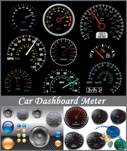 Car Dashboard Meter - Stock Vectors