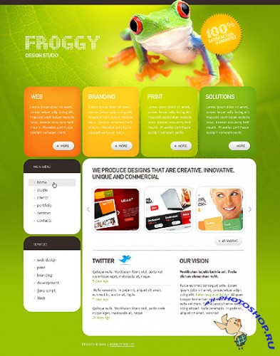 Froggy Design Free Website Template