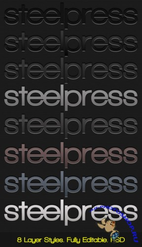 GraphicRiver Steelpress - Unique Photoshop Styles-Text RETAIL