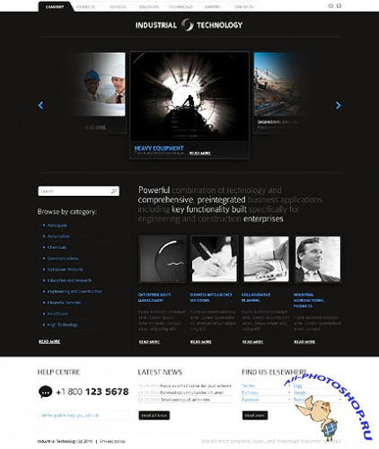 Industrial Technology Website Free Template