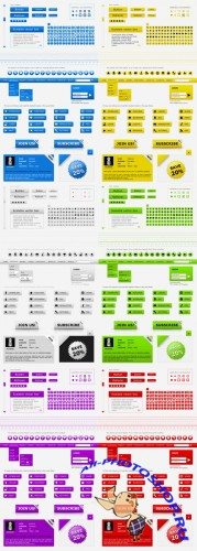 Collection Web kit interface layout PSD pack