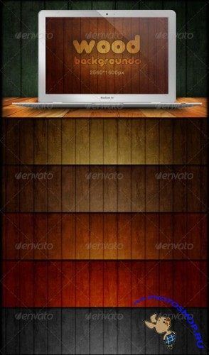 GraphicRiver - Wood Backgrounds - Grunge & Scratch
