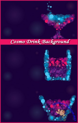Cosmo Drink Background - Stock Vectors
