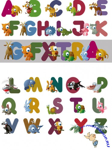 Shutterstock - Animal Alphabet EPS