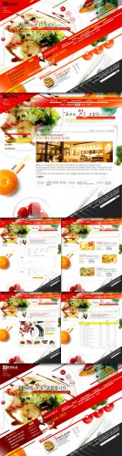 PSD Web Site Template - Korean Food