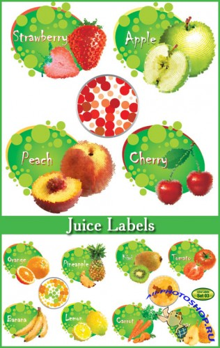 Juice Labels - Stock Vectors