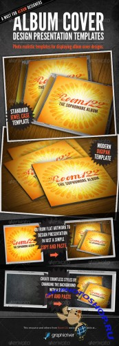Album Cover CD Mock-Ups (GraphicRiver)