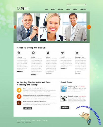Debizz Business Free Website Template