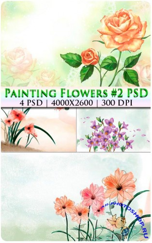 Painting Flowers #2 PSD