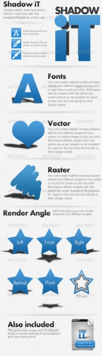 GraphicRiver Shadow iT - Shadow Creator Actions Pack