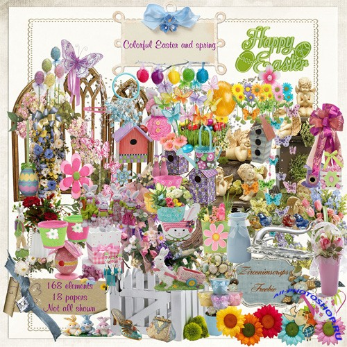 Scrap-set - Colorful Easter & Spring