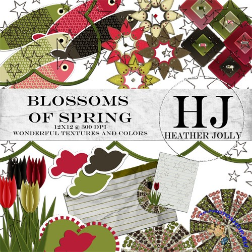 Scrap-kit - Blossoms Of Spring by Heather Jolly - Elements