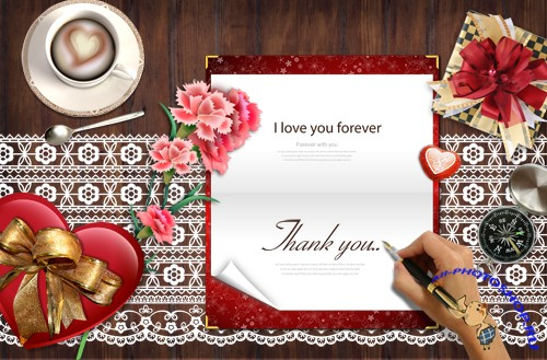 Bookmark Desktop - love greeting card writing