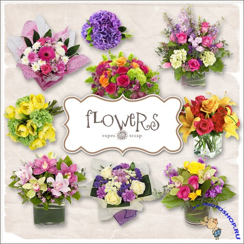Scrap-kit - Easter Flowers Set