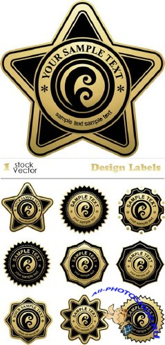 Stock Vector – Design Labels | Дизайн этикетки