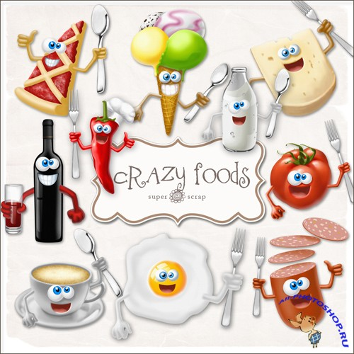 Scrap-kit - Crazy Foods