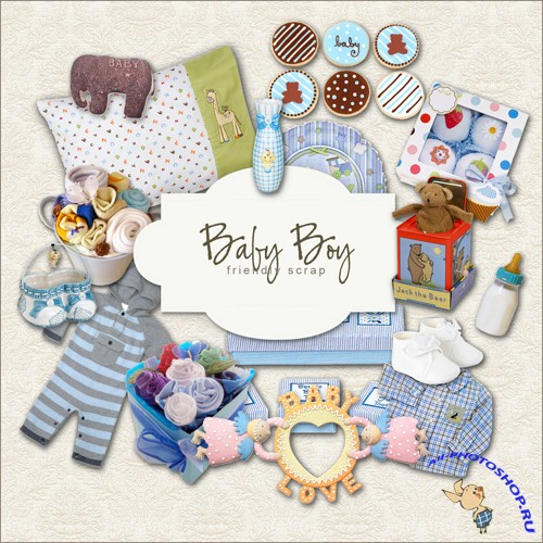 Scrap-kit - Baby Boy Set