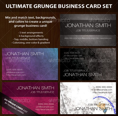 Ultimate Grunge Business Card Set – GraphicRiver