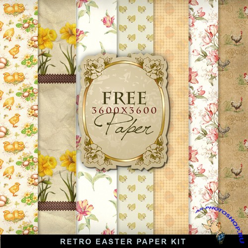Textures - Retro Easter Papers