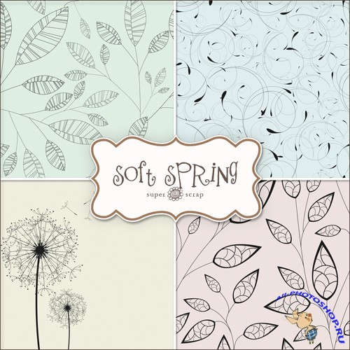 Textures - Soft Spring Backgrounds #2
