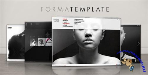 ActiveDen - Forma Template (Incl FLA - Black) - Rip
