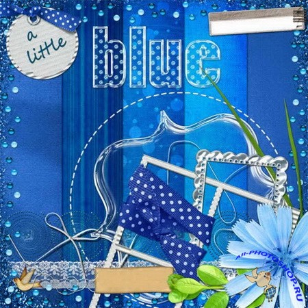 Скрап-набор - Летняя синева | Scrap kit - Summer blue