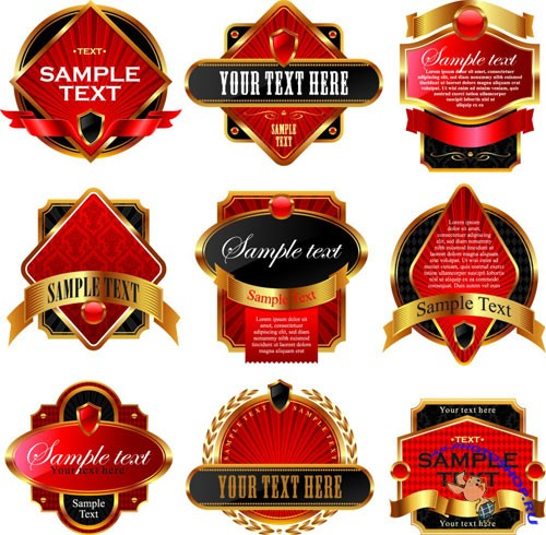Vector Golden Labels – Frames
